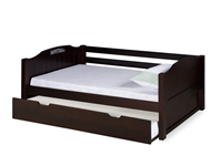 Expanditure Day Bed With Trundle - Panel Style - Cappuccino
