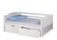 Expanditure Day Bed With Drawers - Panel Style - White