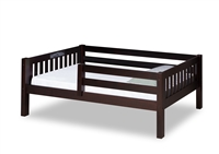Expanditure Day Bed with Guard Rail - Mission Style - Cappuccino