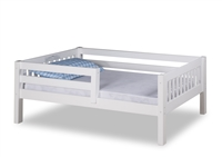 Expanditure Day Bed with Guard Rail - Mission Style - White