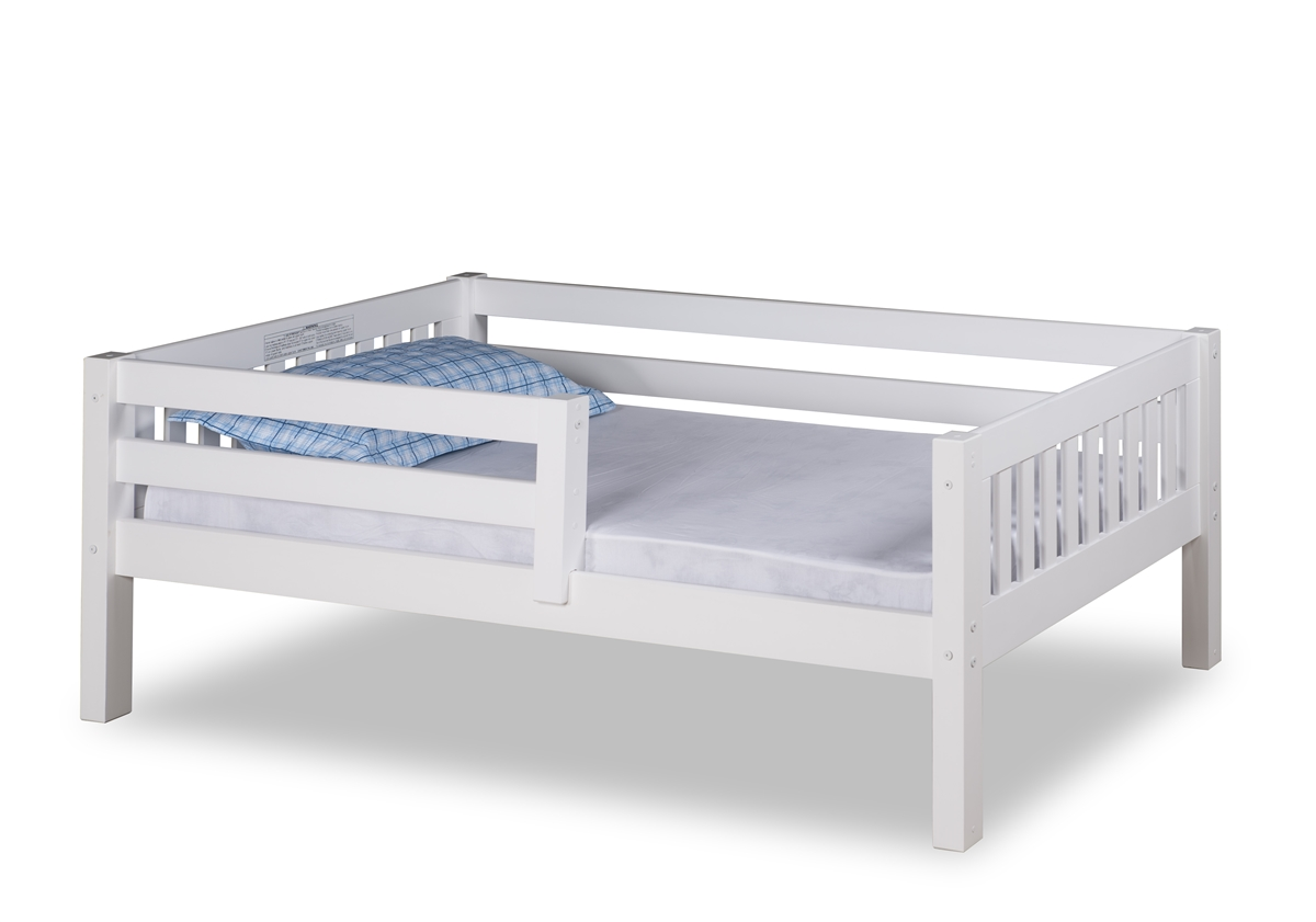 Expanditure Day Bed With Guard Rail Mission Style White