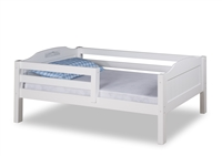 Expanditure Day Bed with Guard Rail - Panel Style - White