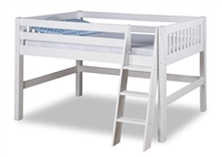 Expanditure Junior Loft Bed - Twin - Mission Style - White
