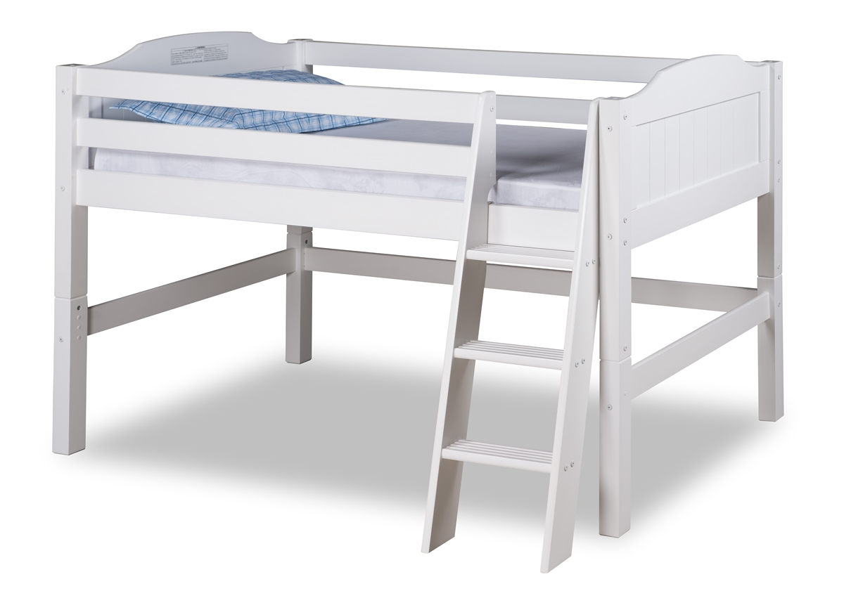 Expanditure Junior Loft Bed Twin Panel Style White