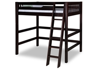 Expanditure High Loft Bed - Twin - Mission - Cappuccino
