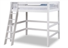 Expanditure High Loft Bed- Twin Size - Mission Headboard - White
