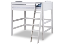 Expanditure High Loft Bed - Twin - Panel Style - White