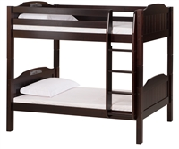 High Bunk Bed - With Conversion Kit - Panel Style - Cappuccino