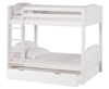 High Bunk Bed - With Conversion Kit - & Twin Trundle Panel Style - White