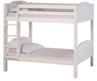 High Bunk Bed - With Conversion Kit - Panel Style - White