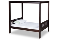 Expanditure Twin Canopy Bed - Mission Style - Cappuccino
