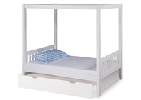 Expanditure Twin Canopy Bed With Trundle - Mission Style - White