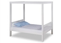 Expanditure Twin Canopy Bed - Mission Style - White