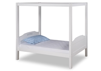 Expanditure Twin Canopy Bed - Panel Style - White