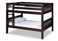 Expanditure Low Bunk Bed - Attached Ladder - Mission Style - Cappuccino