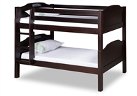 Expanditure Low Bunk Bed - Attached Ladder - Panel Style - Cappuccino