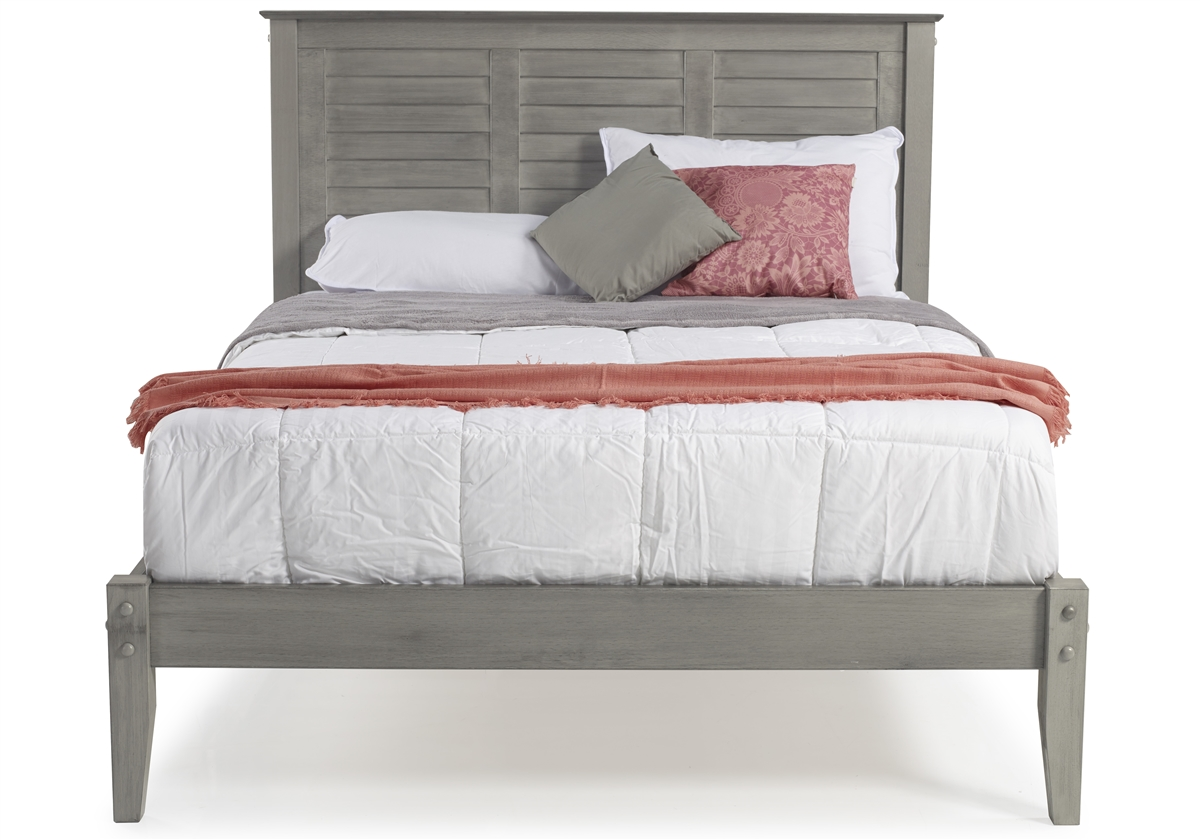 Full Size Platform Bed Rustic Gray