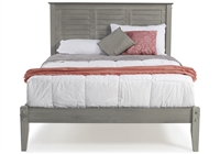 Marseille Queen Size Platform Bed - Rustic Gray Finish