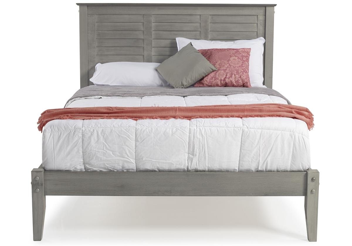 Marseille Queen Size Platform Bed Rustic Gray
