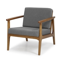 Mid-Century Modern Accent Chair - Gray Upholstery