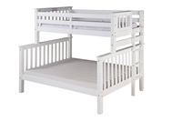 Santa Fe Mission Tall Bunk Bed Twin over Full - Bed End Ladder - White Finish
