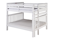 Santa Fe Mission Tall Bunk Bed Full over Full - Bed End Ladder - White Finish