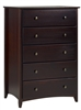 Camaflexi Shaker Style 5 Drawer Chest - Cappuccino Finish