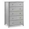 Camaflexi Shaker Style 5 Drawer Chest - Weathered Grey Finish