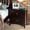 Camaflexi Shaker Style 2 Drawer Night Stand - Cappuccino Finish