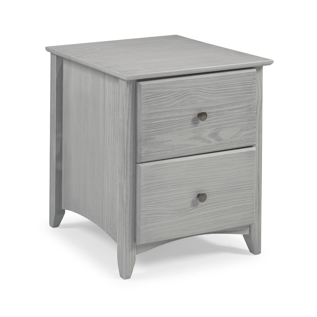 2 Drawer Night Stand Weathered Grey