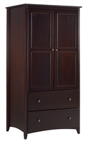 Camaflexi Shaker Style Wardrobe 2 Doors/2 Drawers - Cappuccino Finish
