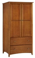 Camaflexi Shaker Style Wardrobe 2 Doors/2 Drawers - Cherry Finish