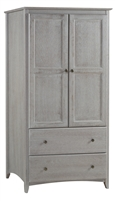 Camaflexi Shaker Style Wardrobe 2 Doors/2 Drawers - Weathered Grey Finish