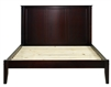 Camaflexi Shaker Style Panel Full Size Platform Bed - Cappuccino Finish
