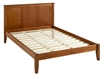 Camaflexi Shaker Style Panel Full Size Platform Bed - Cherry Finish