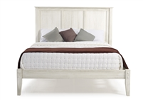 Camaflexi Shaker Style Panel Full Size Platform Bed - Weathered White Finish
