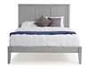 Camaflexi Shaker Style Panel Full Size Platform Bed - Weathered Grey Finish