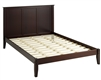 Camaflexi Shaker Style Panel Queen Size Platform Bed - Cappuccino Finish
