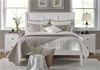 Shaker Style Panel Queen Size Platform Bed - White Finish