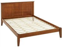 Camaflexi Shaker Style Panel Queen Size Platform Bed - Cherry Finish