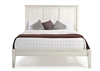 Camaflexi Shaker Style Panel Queen Size Platform Bed - Weathered White Finish