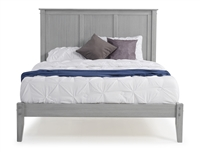 Camaflexi Shaker Style Panel Queen Size Platform Bed - Weathered Grey Finish