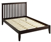 Camaflexi Mission Style Full Size Platform Bed - Cappuccino Finish