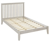 Camaflexi Mission Style Full Size Platform Bed - Weathered White Finish