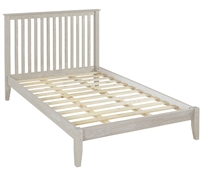 Shaker Style Mission Full Size Platform Bed - Weathered White Finish