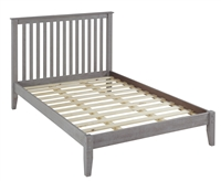 Shaker Style Mission Full Size Platform Bed - Weathered Grey Finish