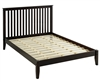 Shaker Style Mission Queen Size Platform Bed - Cappuccino Finish
