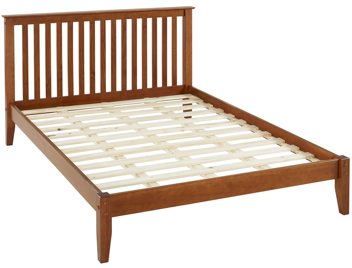 Mission Style Queen Size Platform Bed Cherry