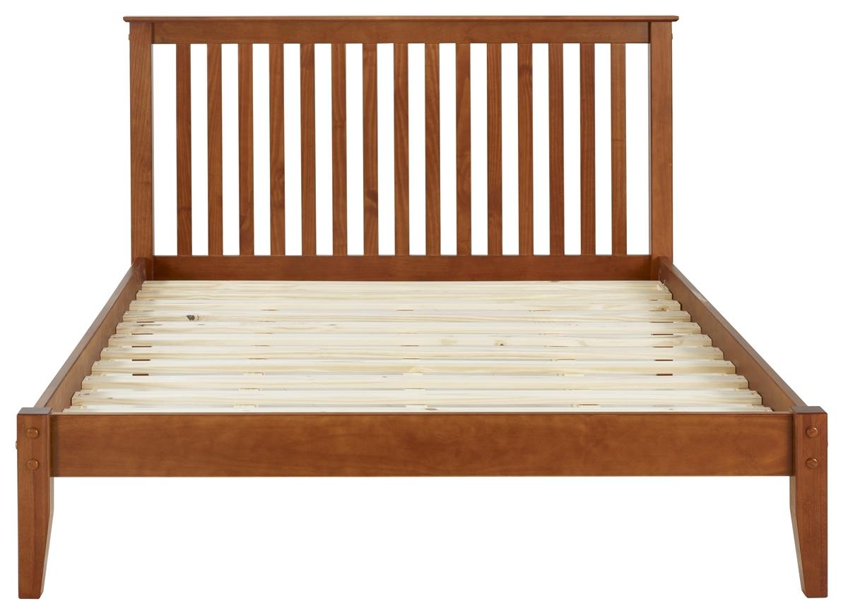 queen size brown wi oak studio mid sierra baxton rain wood bed modern platform century