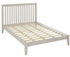 Camaflexi Mission Style Queen Size Platform Bed - Weathered White Finish